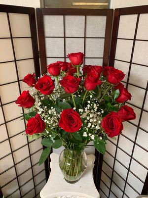 A Premium Two Dozen Red Roses