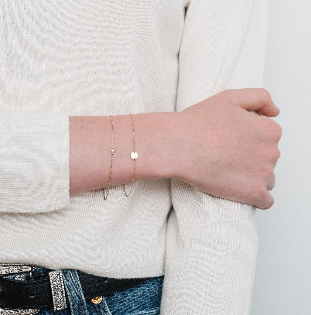 Rose Gold Le Solitaire bracelet