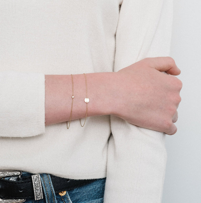 Le Solitaire, le bracelet Or Rose