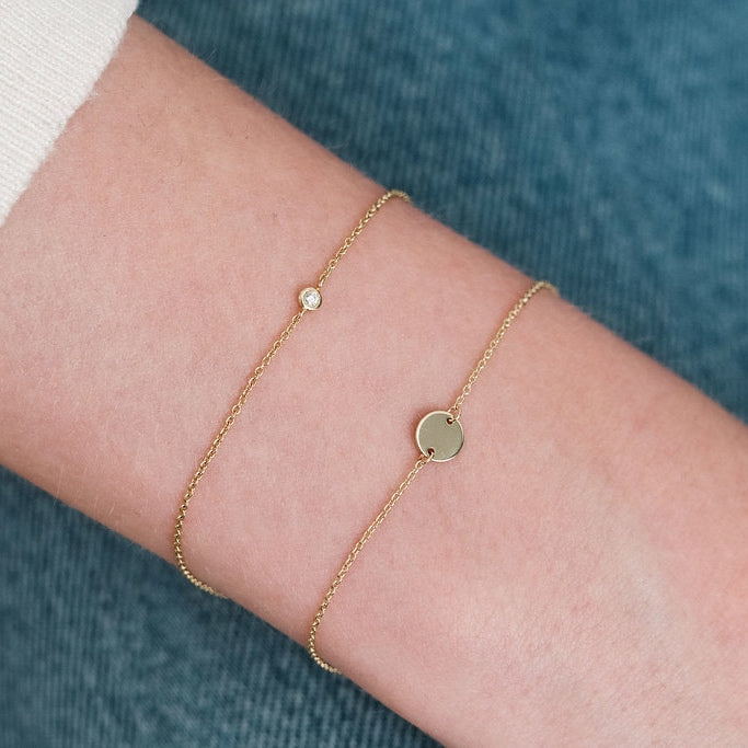 Yellow Gold L'initial bracelet