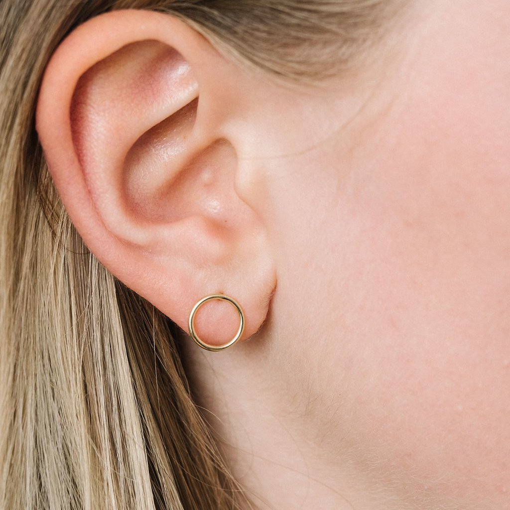 Yellow Gold Les Cercles earrings