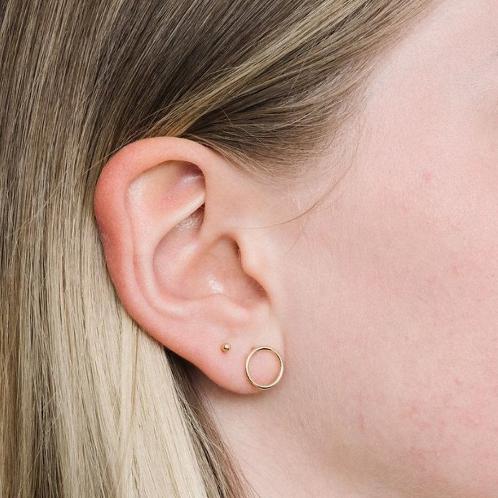 Rose Gold Les Clous earrings