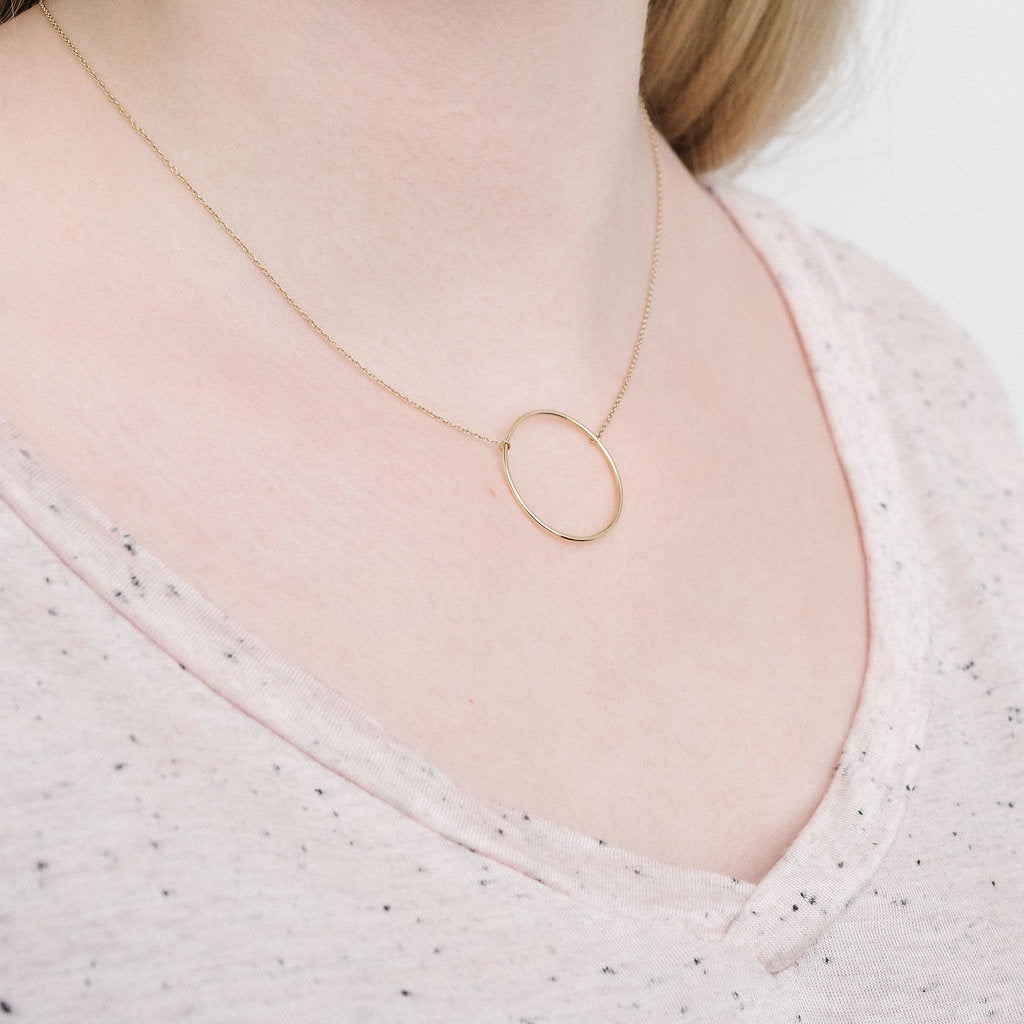 Yellow Gold Le Cercle necklace