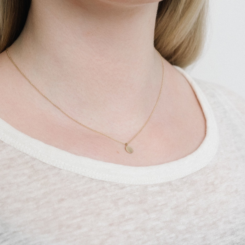 White Gold L'initial necklace