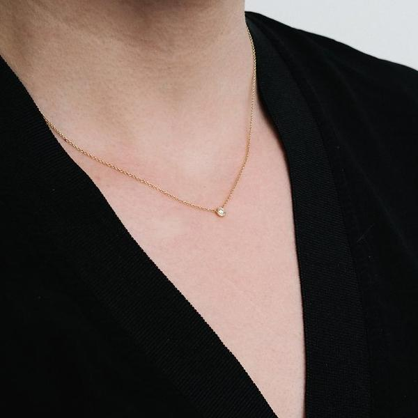 Rose Gold Le Solitaire necklace
