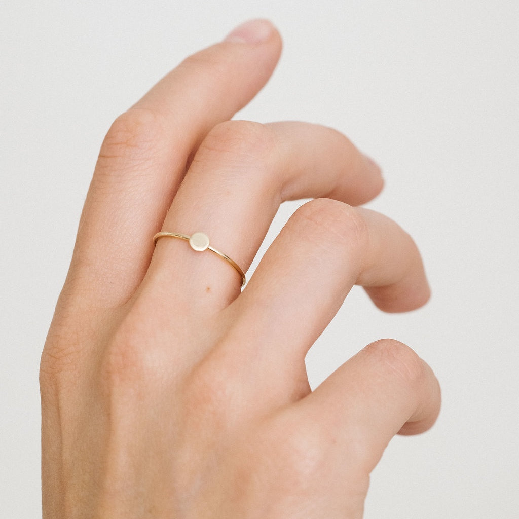Rose Gold L'initiale ring