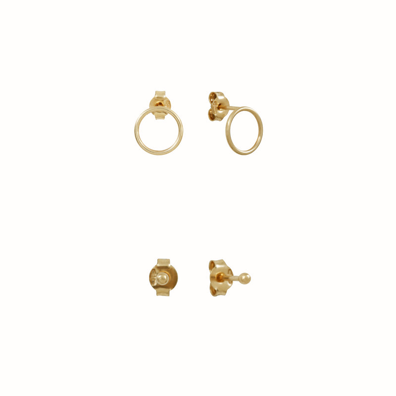 Yellow Gold Clous & Cercles set