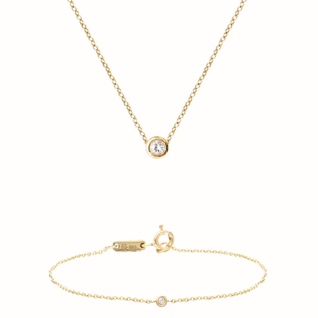 Yellow Gold Solitaires set