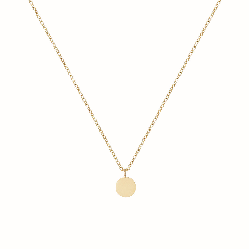 Yellow Gold L'initial necklace