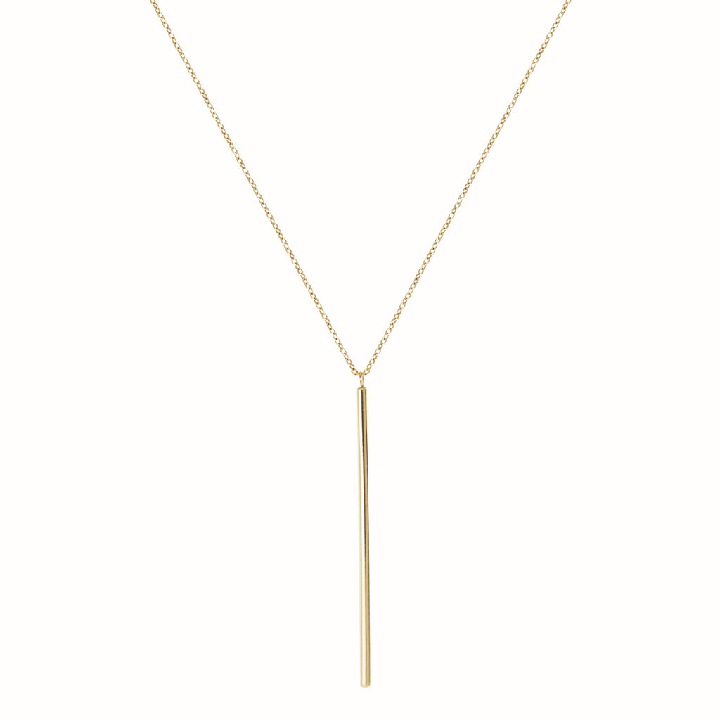 Yellow Gold Le Vertical necklace