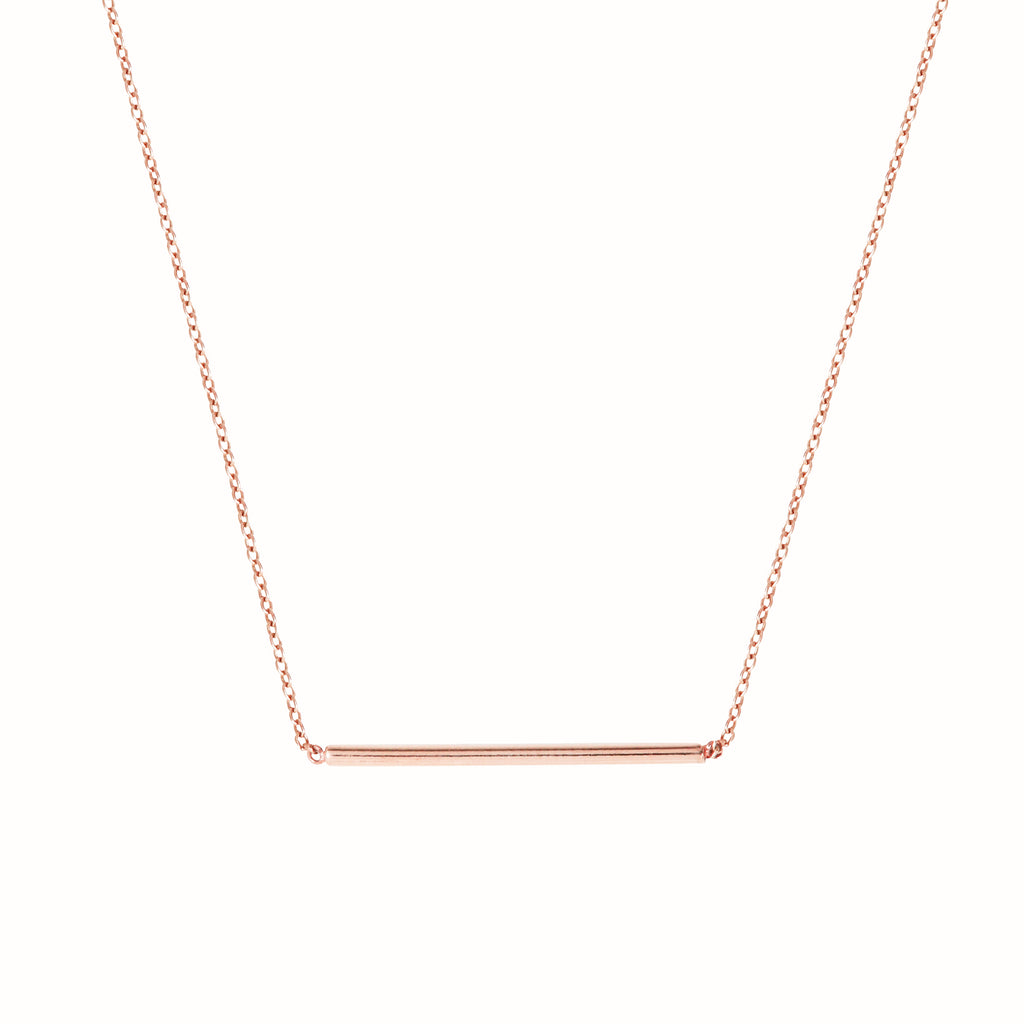 Rose gold L'Horizontal necklace