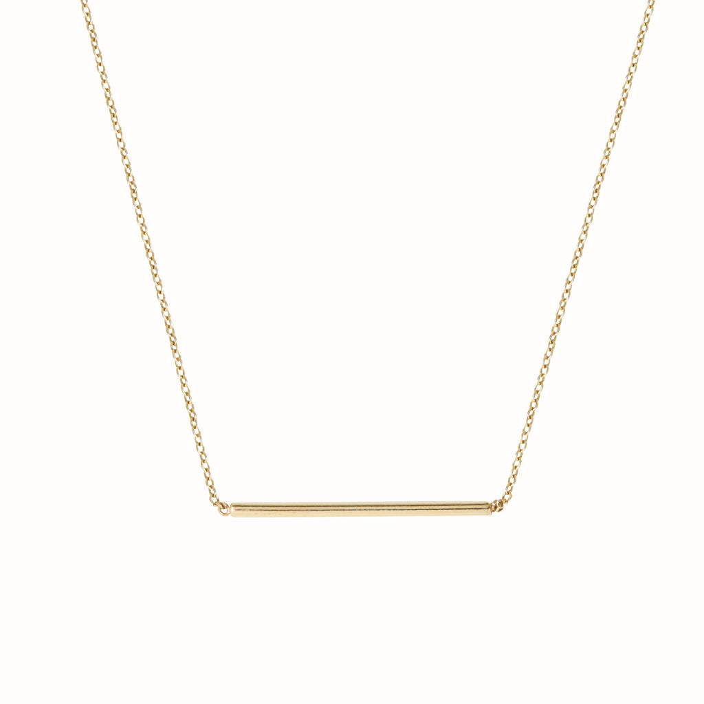 Yellow gold L'Horizontal necklace
