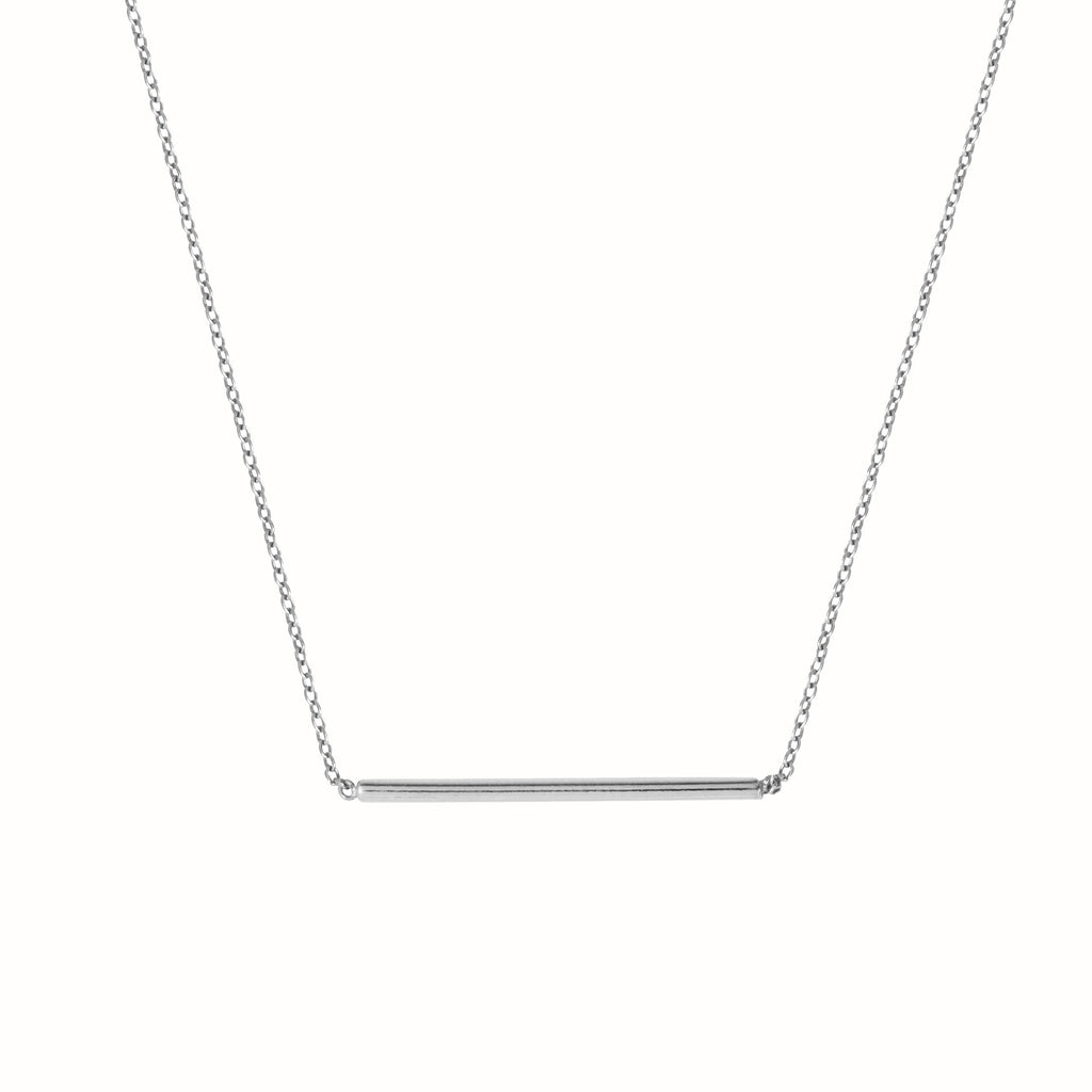 White gold L'Horizontal necklace