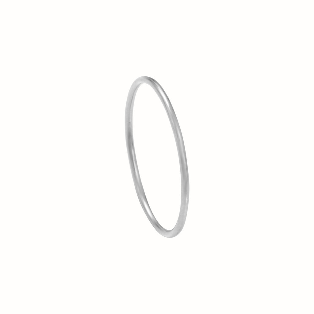 White Gold La Skinny ring
