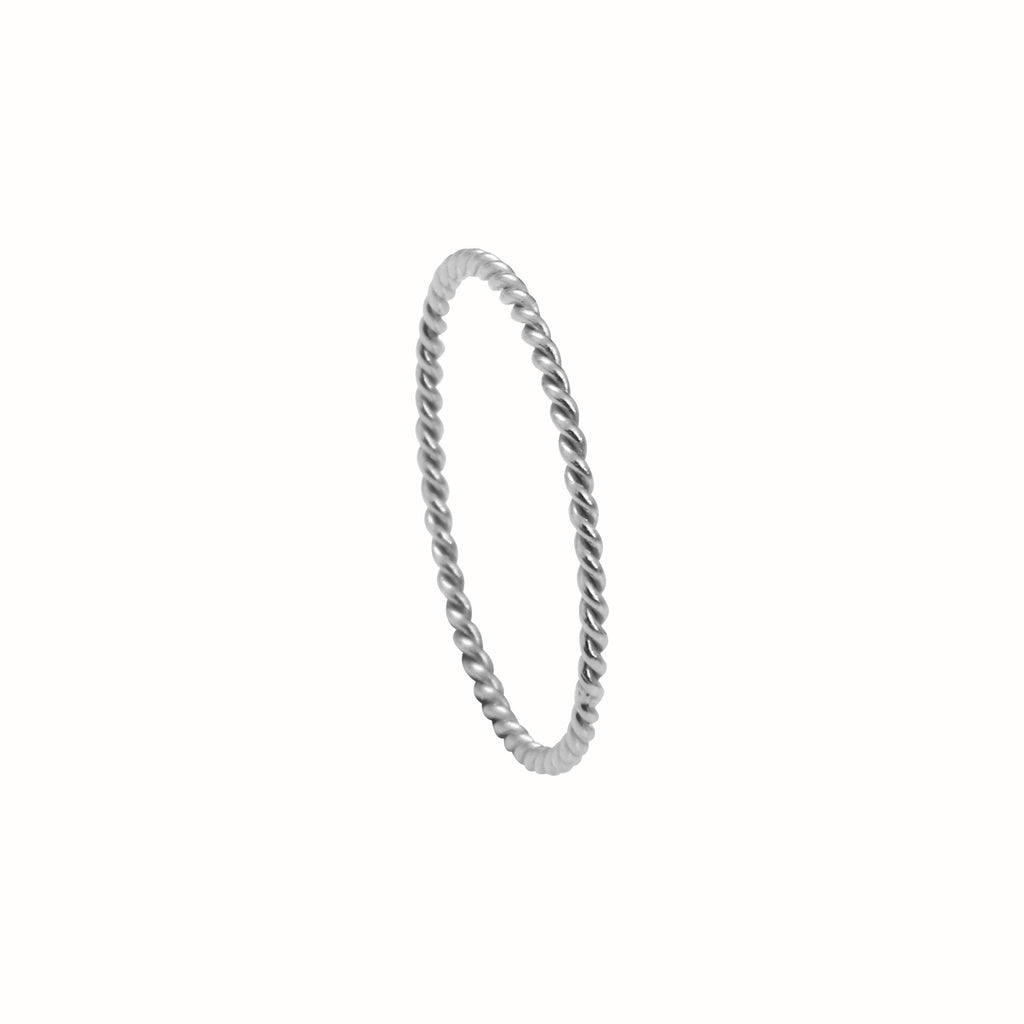 White Gold La Twist ring