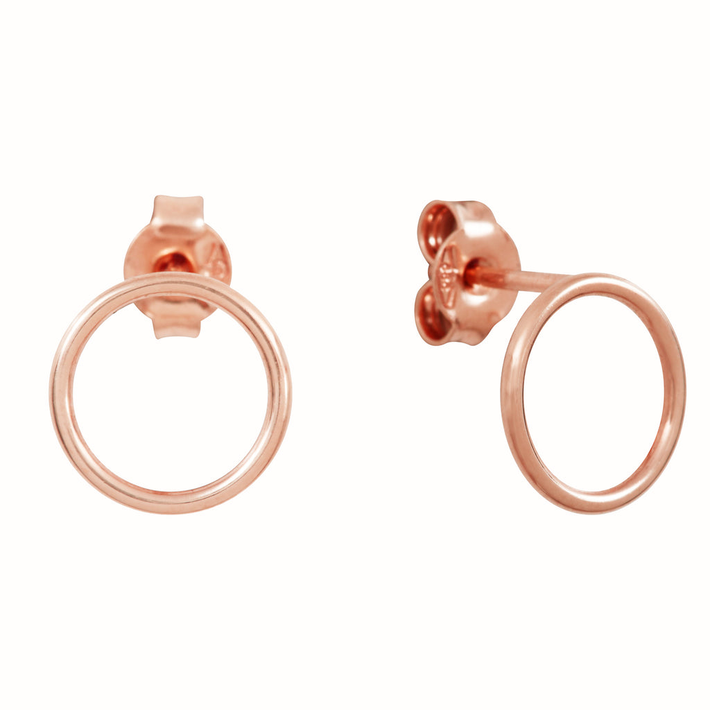 Rose Gold Les Cercles earrings