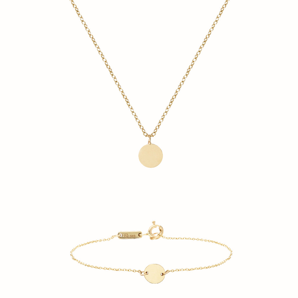Yellow Gold Initiales set