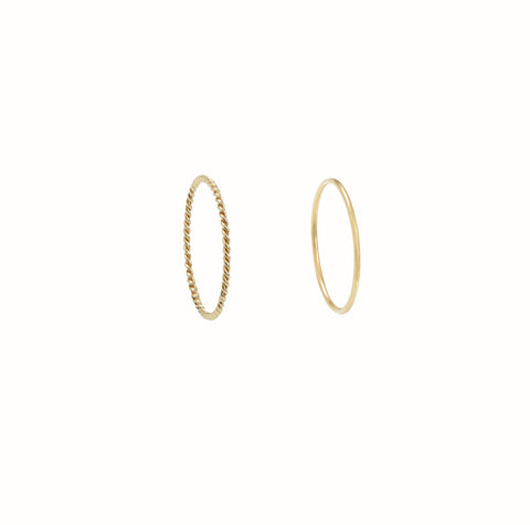 Yellow Gold Cercles set