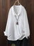 Vintage Solid Color Irregular Button Lapel Plus Size Shirt