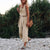 Sleeveless Vintage Color Khaki Jumpsuit