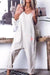 V Neck Sleeveless Off-Shoulder Bare Back Solid Color Jumpsuit