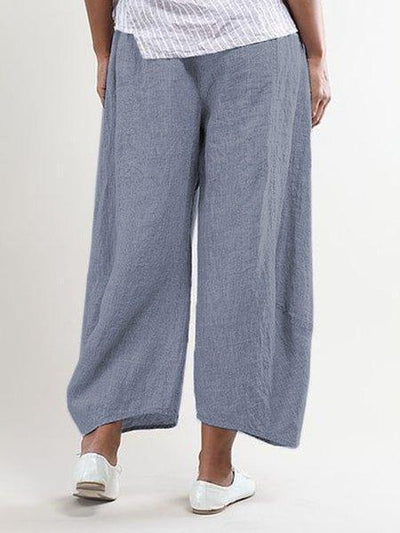 Women Pockets Shift Casual Capri Pants