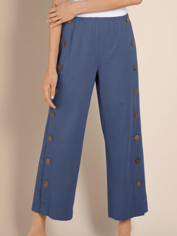 WOMEN NEW BUTTONED PANTS