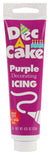 Dec-A-Cake Icing Tube, Purple, 4.25 oz (Pack of 6)