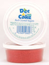 Dec-A-Cake Crystal Sugar, Red Decor Cups, 4 oz (Pack of 12)