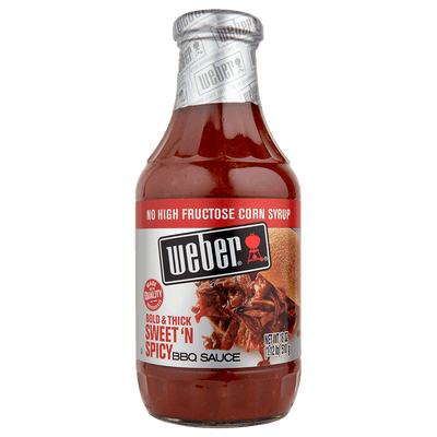 Weber Bold & Thick Sweet'N Spicy BBQ Sauce, 18oz.