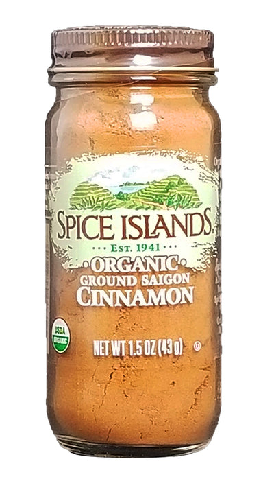 Spice Islands Organic Ground Cinnamon, 1.5 oz.