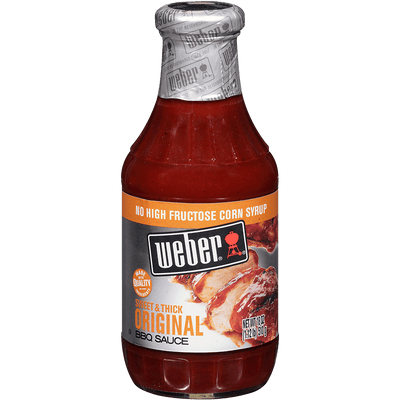 Weber Sweet & Thick Original BBQ Sauce, 18oz.