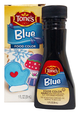 Tone's Blue Food Color, 1 oz