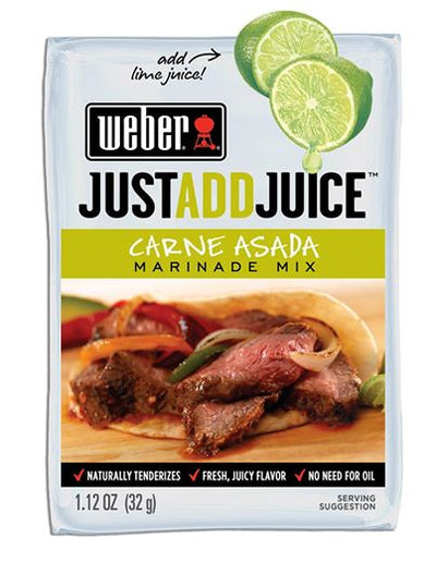Weber Carne Asada Marinade Mix - Just Add Juice, 1.12 oz