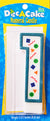 "Dec-A-Cake Candle Number ""1"", (Pack of 6)"