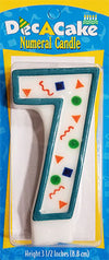 "Dec-A-Cake Candle Number ""7"", (Pack of 6)"