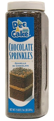 Dec-A-Cake Chocolate Sprinkles, 25 oz