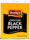 Durkee  Pepper, Black Ground, 4 oz