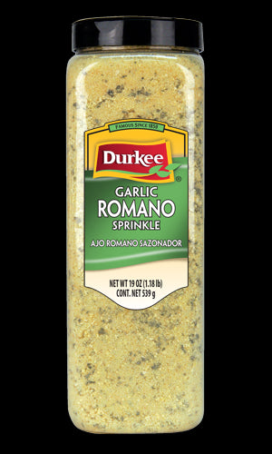 Durkee Garlic Romano Sprinkle, 19 oz