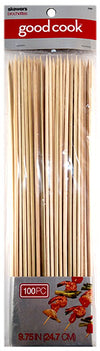 "Good Cook 9.75"" Wood Skewers, 100 count"