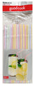 Good Cook Flexible Color Stripe Drinking Straws, 6 bags of 50 count straws.