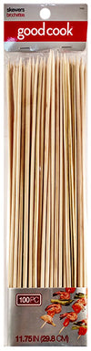 "Good Cook 11.75"" Wood Skewers, 100 count"