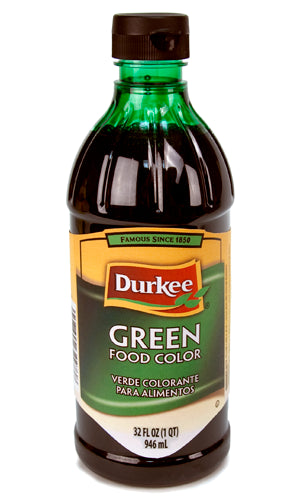 Durkee Green Food Color, 32 oz