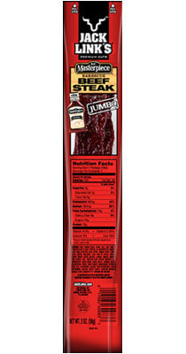 JACK LINK KC MASTERPIECE BBQ BEEF STEAK JUMBO, 2 OZ.