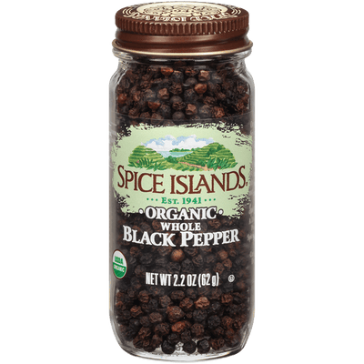 Spice Islands Organic Whole Pepper, 2.2 oz.