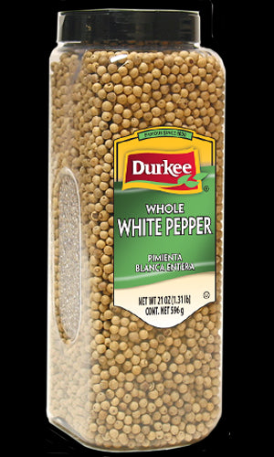 Durkee Pepper, White Whole 21 oz
