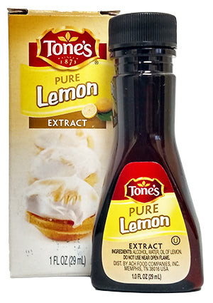 Tone's Pure Lemon Extract, 1 oz