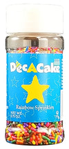 Dec-A-Cake Rainbow Sprinkles, 2.75 oz. (Pack of 6)