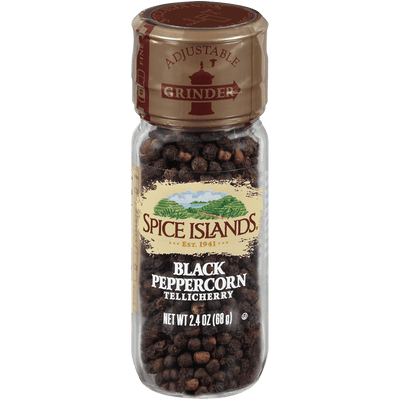Spice Islands Tellichery Black Peppercorn Grinder, 2.4oz