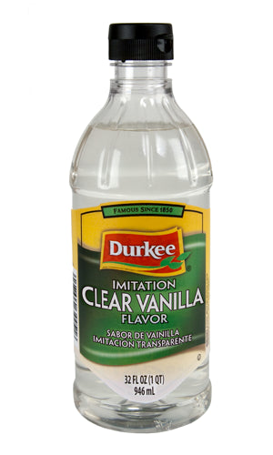 Durkee Vanilla Imitation Clear, 32 oz